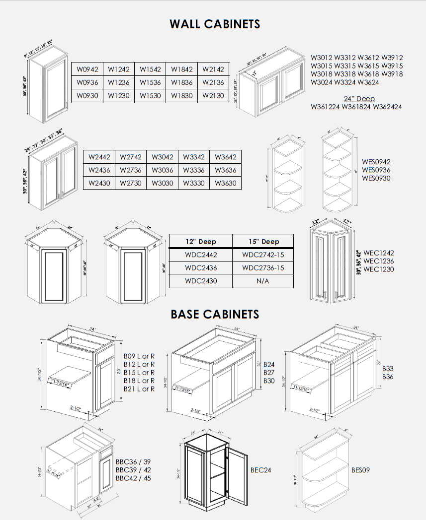 Kitchen Cabinet Dimensions: ProSelect Design